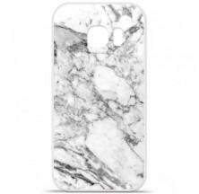 Coque en silicone Samsung Galaxy S7 Edge - Marbre Blanc
