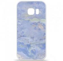 Coque en silicone Samsung Galaxy S7 Edge - Marbre Bleu