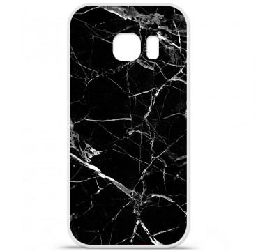 Coque en silicone Samsung Galaxy S7 Edge - Marbre Noir