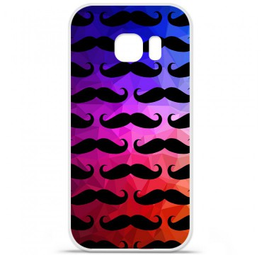 Coque en silicone pour Samsung Galaxy S7 Edge - Moustache