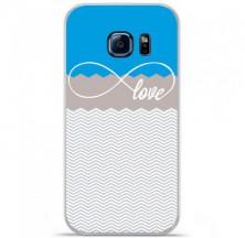 Coque en silicone Samsung Galaxy S7 Edge - Love Bleu
