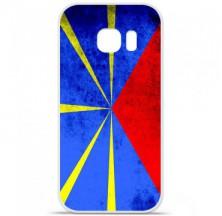 Coque en silicone Samsung Galaxy S7 Edge - Drapeau La Réunion