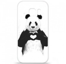 Coque en silicone Samsung Galaxy S7 Edge - BS Love Panda