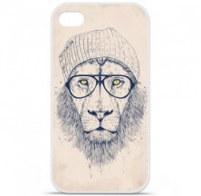 Coque en silicone Apple iPhone 4 / 4S - BS Cool Lion