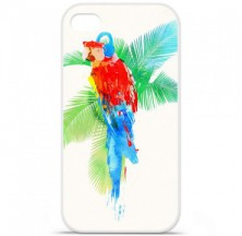 Coque en silicone Apple iPhone 4 / 4S - RF Tropical party