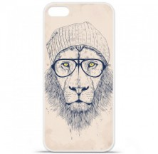 Coque en silicone Apple iPhone 5 / 5S - BS Cool Lion