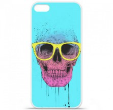 Coque en silicone Apple iPhone 5 / 5S - BS Skull glasses