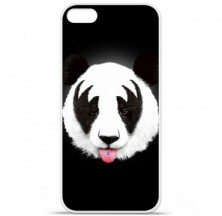 Coque en silicone Apple iPhone 5 / 5S - RF Kiss Of Panda