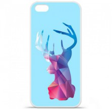 Coque en silicone Apple iPhone 5C - Cerf Hipster Bleu