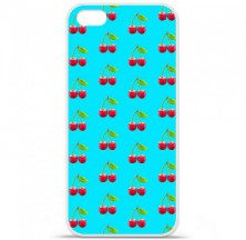 Coque en silicone Apple iPhone 5C - Cerise Bleu