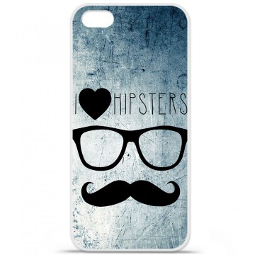 Coque en silicone Apple iPhone 5C - I Love Hipster