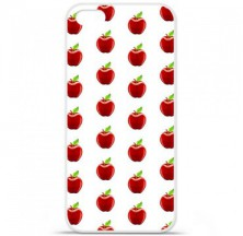 Coque en silicone Apple iPhone 5C - Pomme Blanc