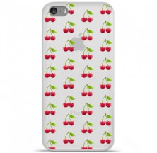 Coque en silicone Apple iPhone 5C - Cerises Gris