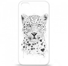 Coque en silicone Apple iPhone 5C - BS Love leopard