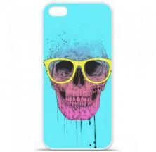 Coque en silicone Apple iPhone 5C - BS Skull glasses
