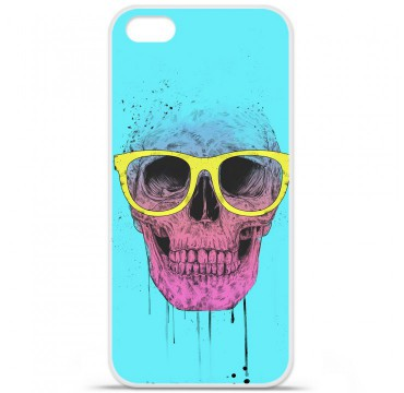 Coque en silicone Apple iPhone 5C - BS Skull glasses