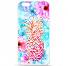 Coque en silicone Apple iPhone 6 / 6S - Ananas