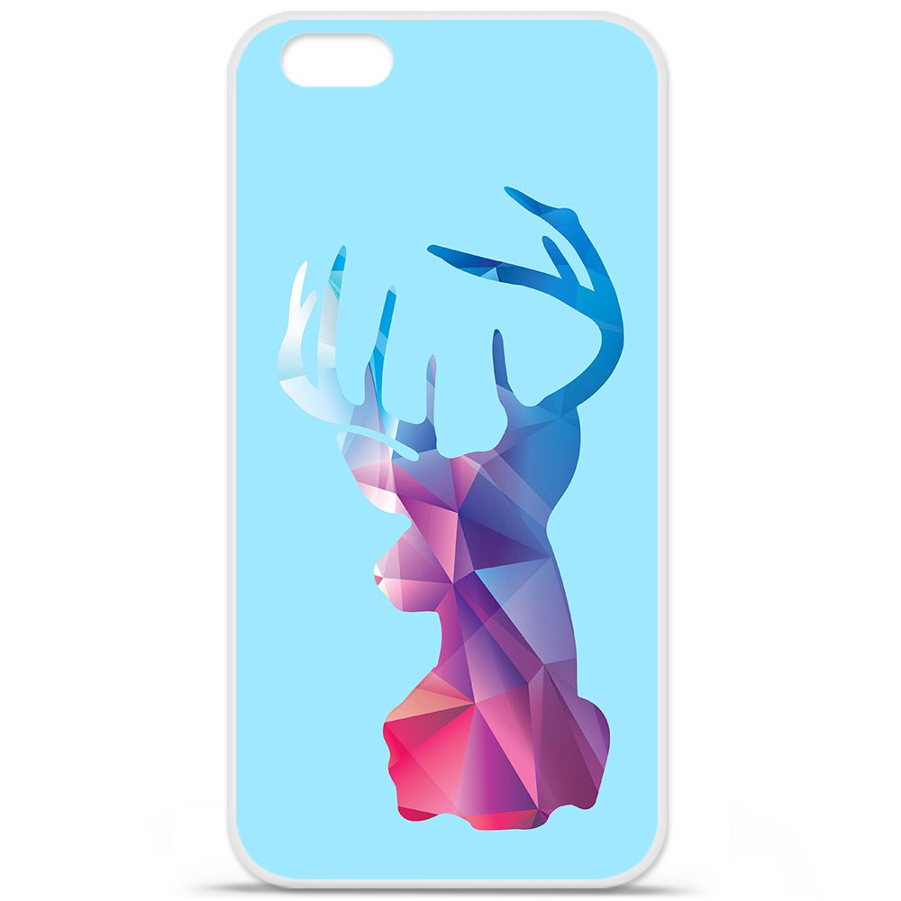 coque silicone iphone 6 6s cerf hipster bleu