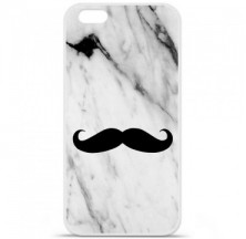 Coque en silicone Apple iPhone 6 / 6S - Hipster Moustache