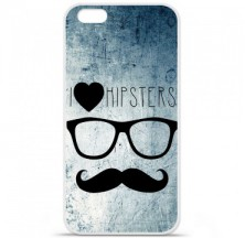 Coque en silicone Apple iPhone 6 / 6S - I Love Hipster