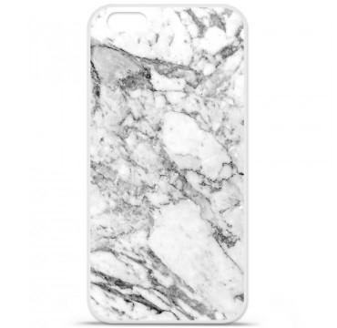 Coque en silicone Apple iPhone 6 / 6S - Marbre Blanc