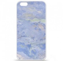Coque en silicone Apple iPhone 6 / 6S - Marbre Bleu