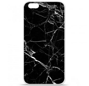 Coque en silicone Apple iPhone 6 / 6S - Marbre Noir