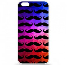 Coque en silicone Apple iPhone 6 / 6S - Moustache