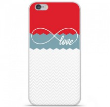 Coque en silicone Apple iPhone 6 / 6S - Love Rouge