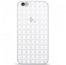 Coque en silicone Apple iPhone 6 / 6S - Skull blanc
