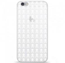 Coque en silicone Apple iPhone 6 / 6S - Skull blanc