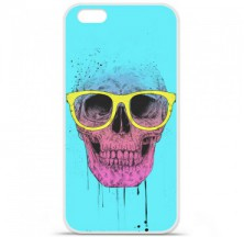 Coque en silicone Apple iPhone 6 / 6S - BS Skull glasses