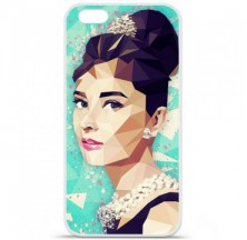 Coque en silicone Apple iPhone 6 / 6S - ML Hepburn
