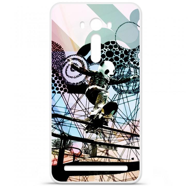 Coque en silicone Asus Zenfone 2 Laser ZE500KL - Panda skater 56a395a85e76