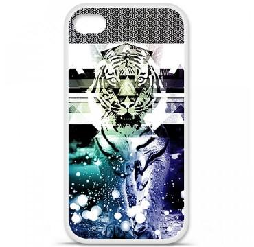 Coque en silicone pour Apple iPhone 4 / 4S - Tigre swag