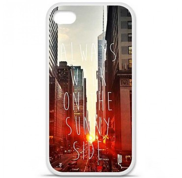 Coque en silicone pour Apple iPhone 4 / 4S - Sunny side