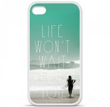 Coque en silicone Apple iPhone 4 / 4S - Surfer