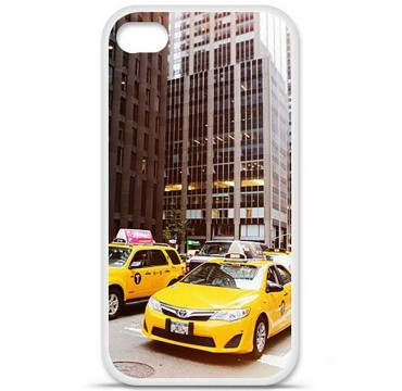 Coque en silicone pour Apple iPhone 4 / 4S - NY Taxi