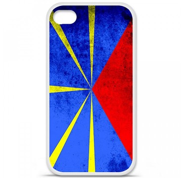Coque en silicone Apple iPhone 4 / 4S - Drapeau La Réunion
