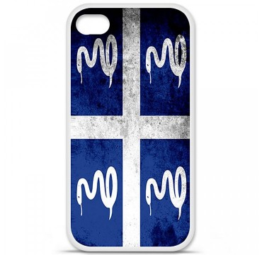 Coque en silicone Apple iPhone 4 / 4S - Drapeau Martinique