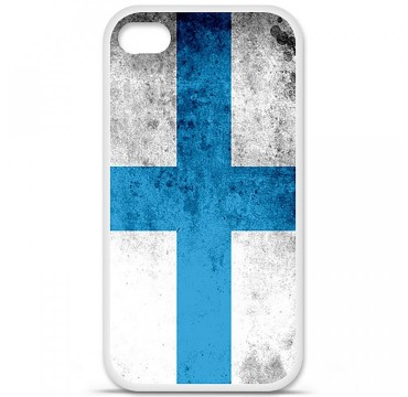 Coque en silicone Apple iPhone 4 / 4S - Drapeau Marseille