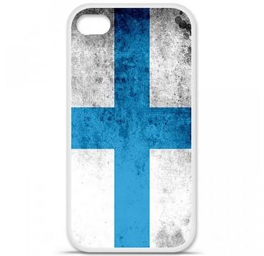 Coque en silicone pour Apple iPhone 4 / 4S - Drapeau Marseille