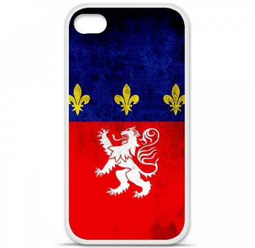 Coque en silicone Apple iPhone 4 / 4S - Drapeau Lyon