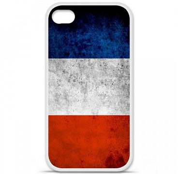 Coque en silicone Apple iPhone 4 / 4S - Drapeau France