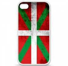Coque en silicone Apple iPhone 4 / 4S - Drapeau Basque