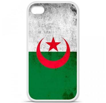 Coque en silicone Apple iPhone 4 / 4S - Drapeau Algérie