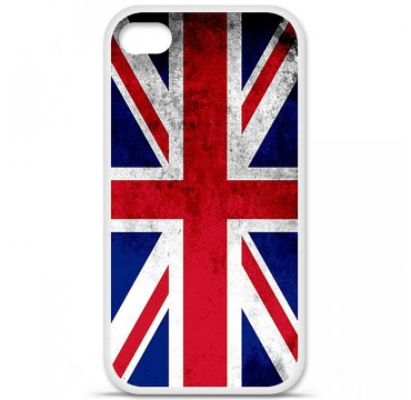 Coque en silicone Apple iPhone 4 / 4S - Drapeau Angleterre