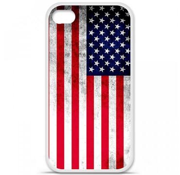 Coque en silicone Apple iPhone 4 / 4S - Drapeau USA