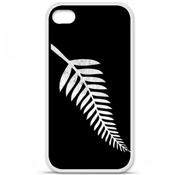 Coque en silicone Apple iPhone 4 / 4S - Drapeau All-black
