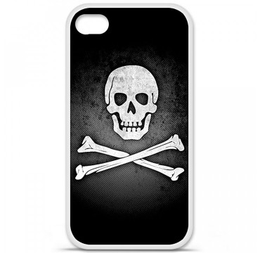 Coque en silicone Apple iPhone 4 / 4S - Drapeau Pirate